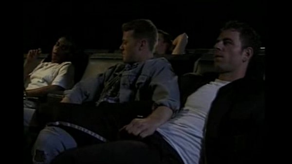 bareback group sex at german movie theatre gay orgy