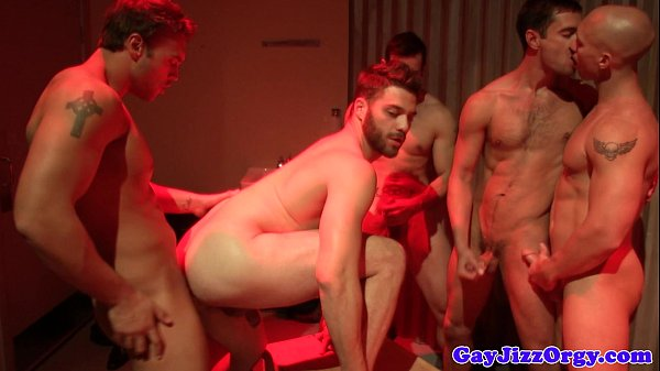 beefy hunks having a gang poke what a special gay orgy