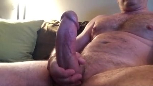 bigthickhardcock exposing mature hairy beefy gay masturbating