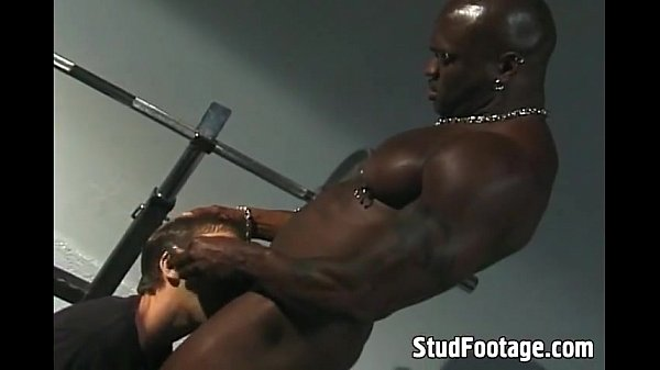 black and white gay sex on the bench press interracial gay
