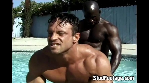 chocolate and milk poolside gay anal pumping interracial gay