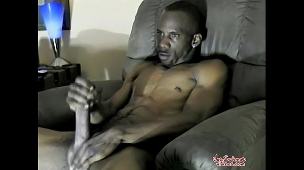 jacking his large black cock too hot to wish big dick gay