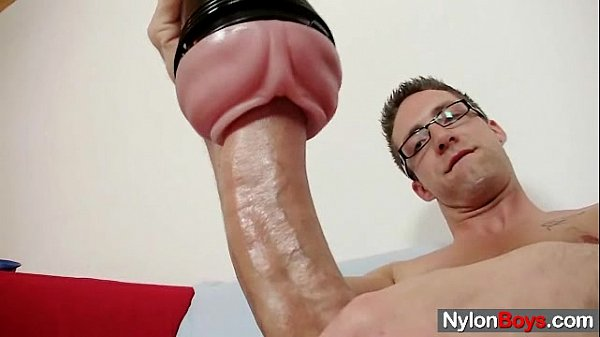 solo gay rick cums on his nylon tights fetish gay