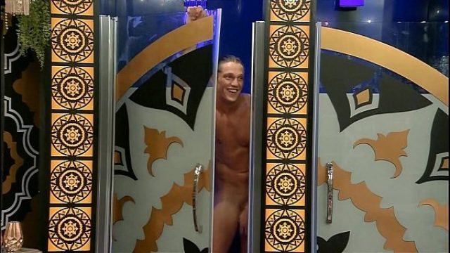 lewis in shower lewis erect bb uk reality gay