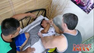 awesome backdoor threesome with 2 teen twinks twink gay