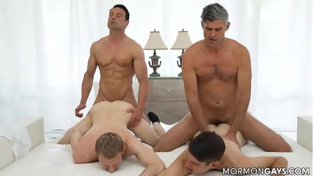 2 mormon having romp through 2 twinks daddy gay