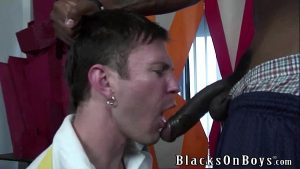luke cross does quick cash by riding a black interracial gay