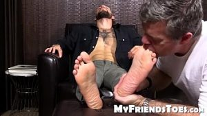 Gay Amateur tooth hunk getting a hot caress toes l
