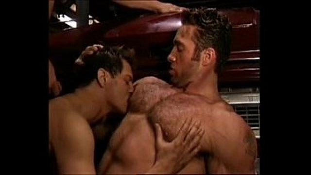 Muscle Gay sexy mechanic trio super horny super beauty