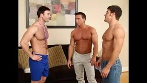 threesome gay mitchell reese trio anal por